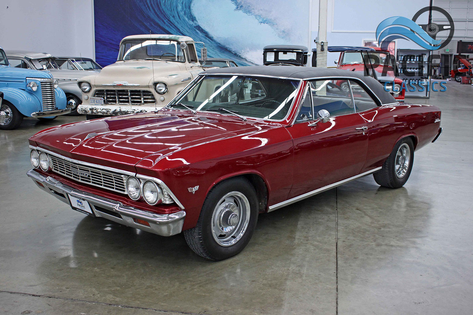 1966 Chevrolet Chevelle Burgundy Pacific Classics