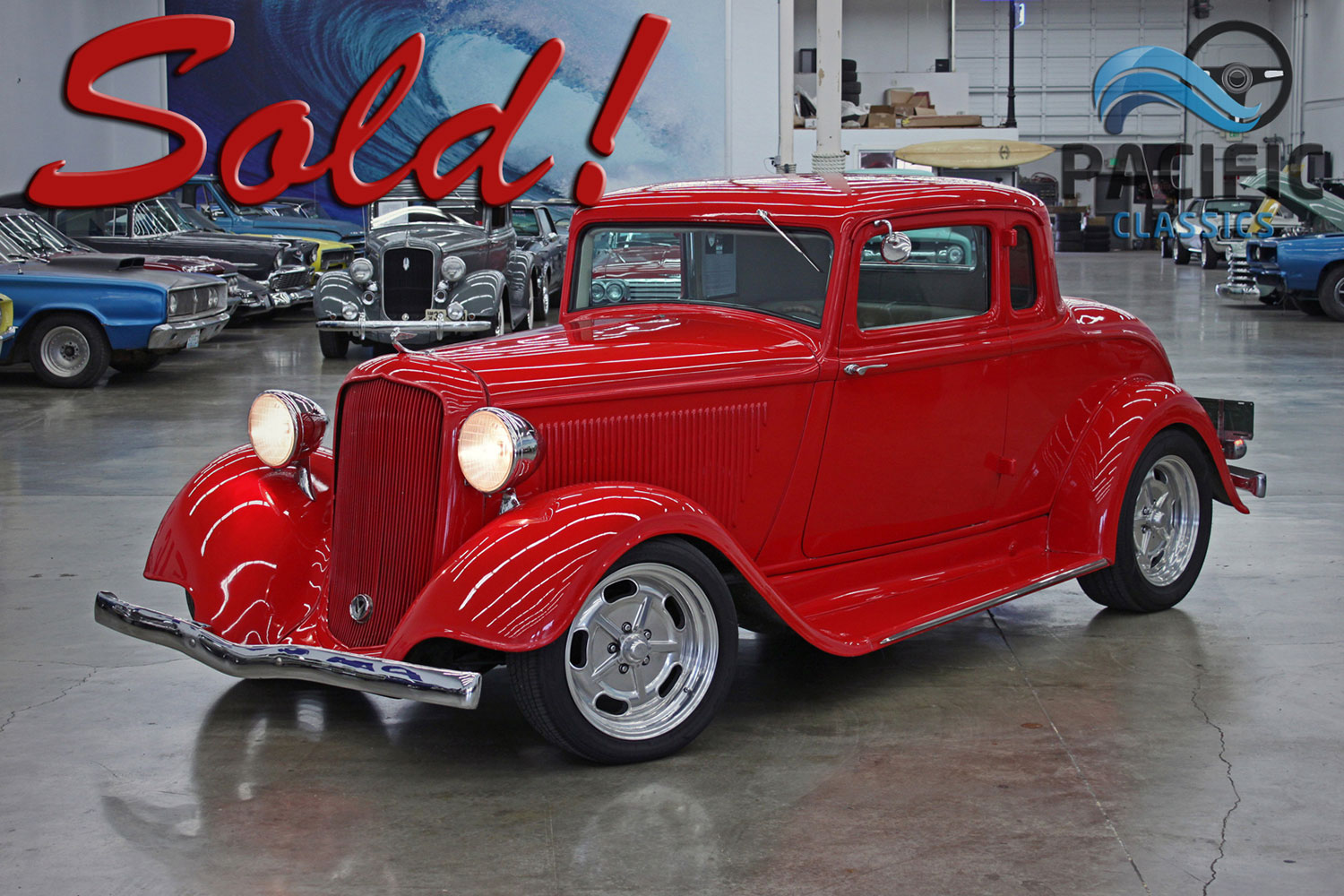 1933 Plymouth Coupe Red
