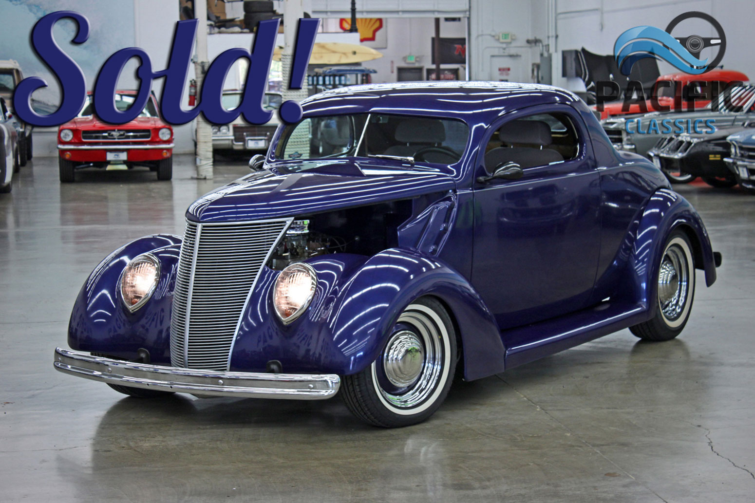 1937 Ford Coupe Kit Purple