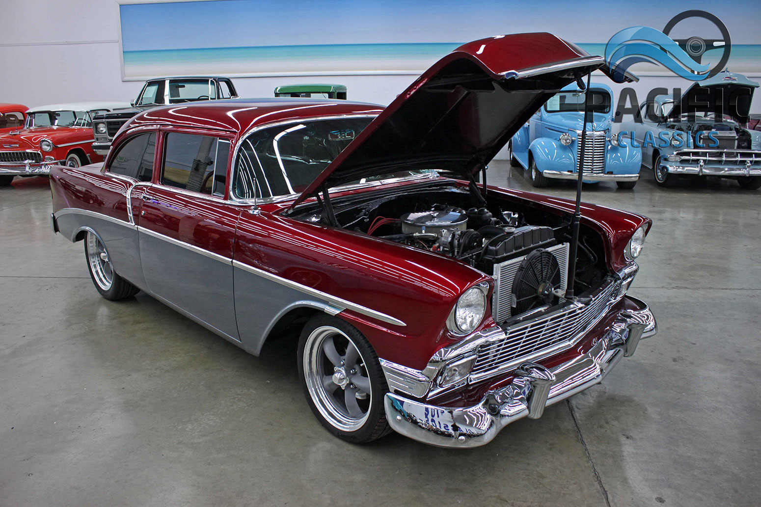 1956 Chevrolet 2 Door Post 454 Pacific Classics