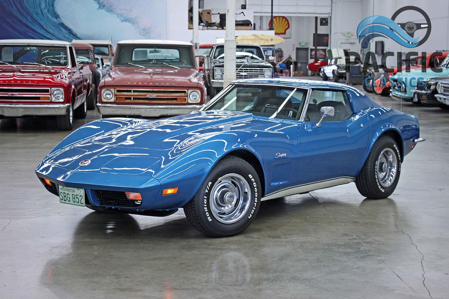 1973 Corvette Blue